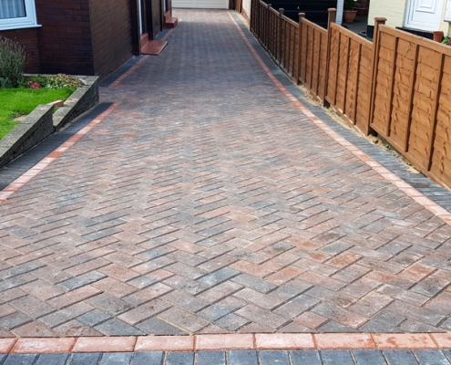 block paving completed in Leeds
