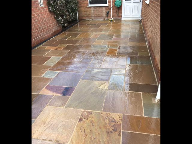 sandstone patio